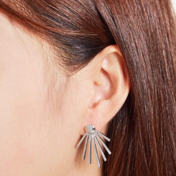 089a3afa13 SHEIN Jewelry | New Spikes Ear Jacket 2 Piece Silver Tone Earrings ...